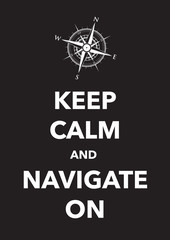 keep calm and navigate poster