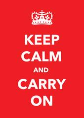 keep calm imitation poster