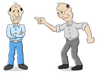 zwei Männer sind verschiedener Meinung