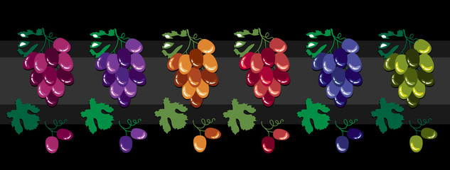 Grape design elements