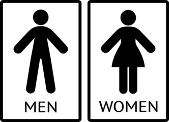Toilet or restroom sign