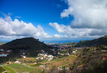 Gran Canaria, Vega de San Mateo in January after rains