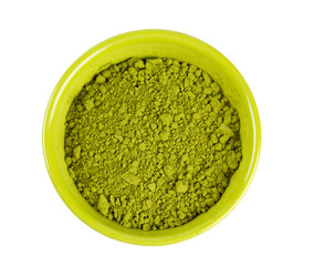 powdered green tea Matcha in a bowl
