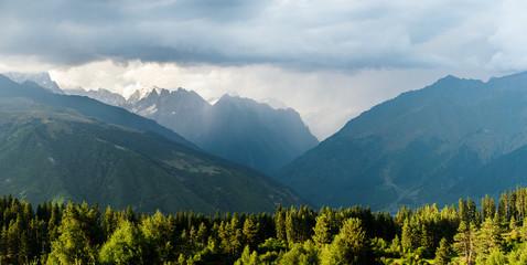 Caucasus mountains nature in Georgia, Svaneti, Mestia
