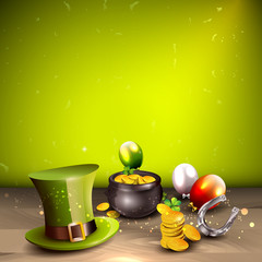 St Patrick's Day background with place for your text