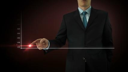 Businessman interactivity Touch screen. Touchscreen Technology