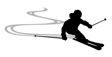 Skifahrer Spuren