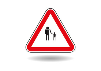 Sign, parent with child