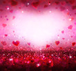 valentines background with hearts flying - 76155759