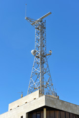 Telecommunications tower, Chipiona, Spain