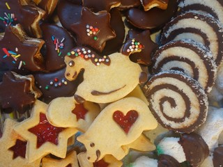 Christmas confectionery shortbread rocking horse