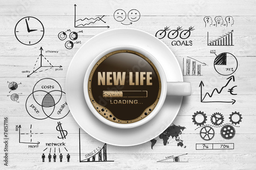 Foto op Canvas Koffie New Life Loading