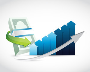 money business graph illustration design