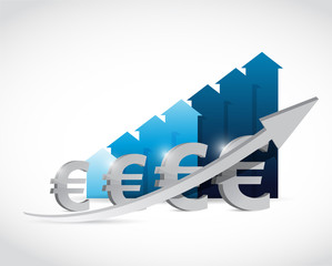euro currency business graph illustration