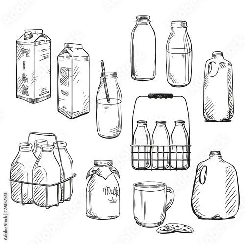 Milk. Packaging. Vector illustration. - 76157551