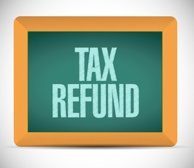 tax refund board sign illustration design