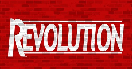 revolution message illustration design