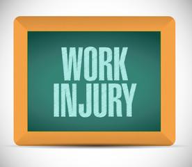 work injury board sign illustration design