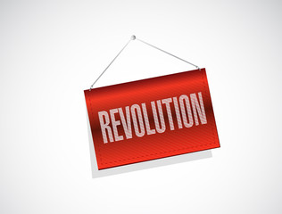 revolution hanging banner illustration