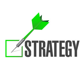 strategy check dart illustration design