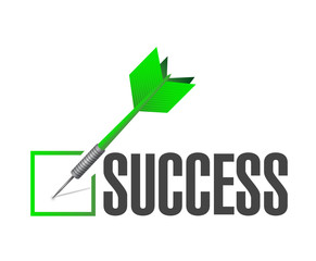 success check dart illustration design