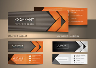 Brown mini business card design