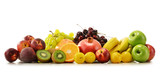 Composition with variety of fresh fruits. Balanced diet