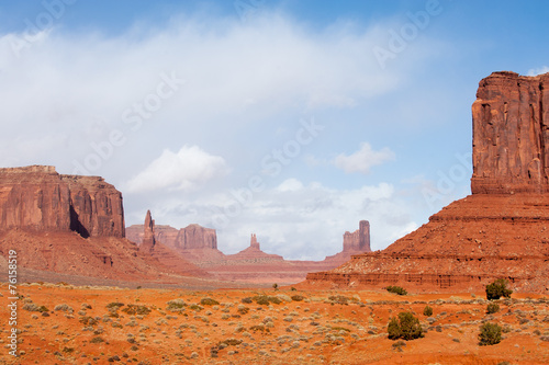 Famous rock formations of Monument Valley tribal park