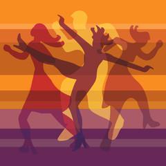 Modern dance orange background