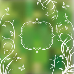 Spring background with frame for text