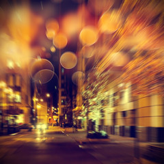Urban life. Chicago at night.