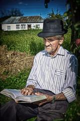 Expressive old farmer