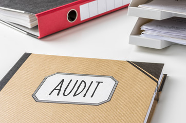 Sammelmappe mit der Beschriftung Audit