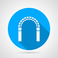 Circle vector icon for archway