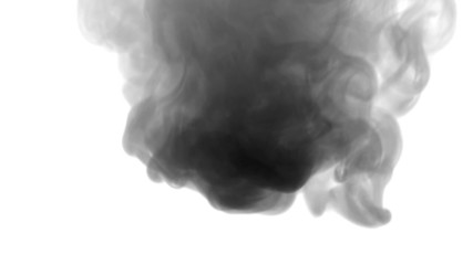 Smoke billowing over a white background. 4K UHD footage.