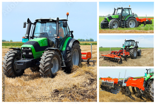 Tractor collage - 76161726