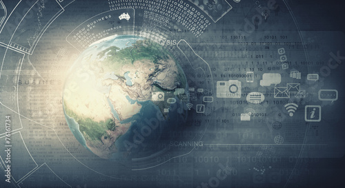 canvas print picture Global technologies