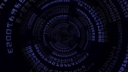 Numbers Technology Tunnel Background