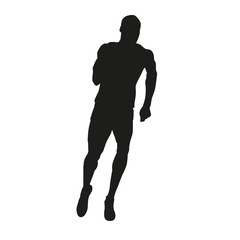 Running man vector silhouette