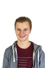 friendly looking teenage boy