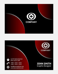 Dark red vector background for business cards