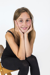 smiling young beautiful girl with brown hair