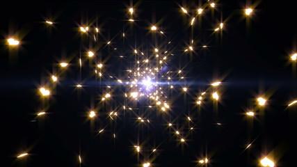 光と星の背景