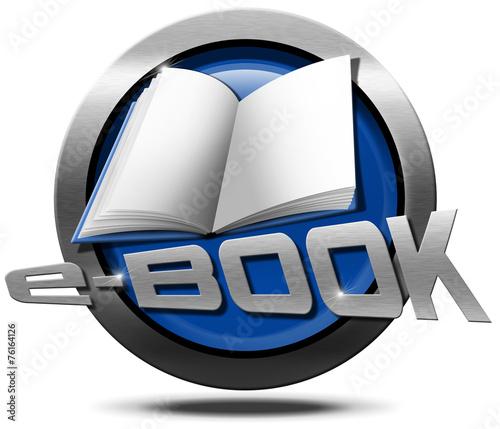 canvas print picture E-Book - Metallic Icon