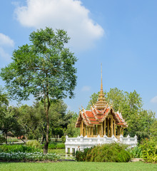 Beautiful Thai pavillion in the garden