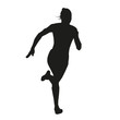 Silhouette running woman