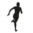 Silhouette running woman