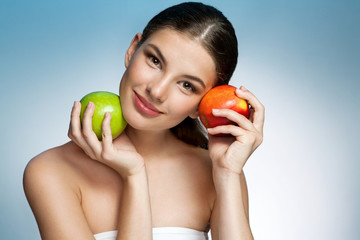 Pretty and Healthy, natural organic raw fresh food concept