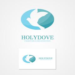 Vector  logo design  dove of peace