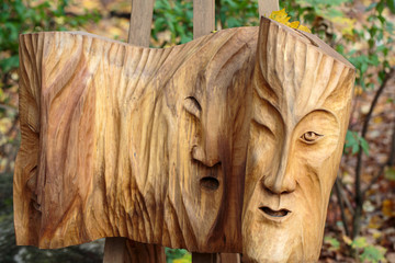 Fairy-like wooden figures from primaeval Slawic tales